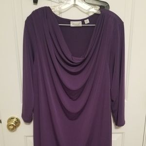 Cowl neck purple tunic